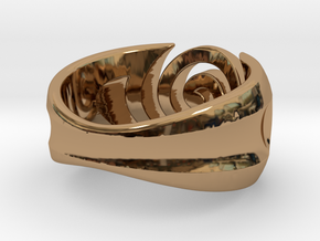 Spiral ring - Size 6 in Polished Brass