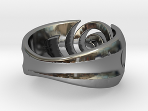 Spiral ring - Size 7 in Fine Detail Polished Silver