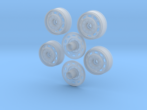 1/16 OVAL WHEELS in Smooth Fine Detail Plastic