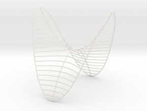 Saddle -- Level Curves (8 in) in White Natural Versatile Plastic