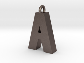 Alphabet (A) in Polished Bronzed Silver Steel