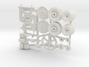 Anchor Windlass 1:24 scale in White Natural Versatile Plastic