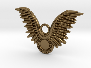 Wings in Polished Bronze