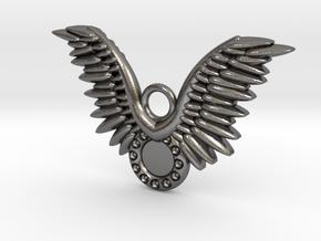 Wings in Polished Nickel Steel