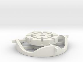 Bulgy651track in White Natural Versatile Plastic