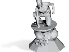 Worlds Collide - Sculpture Antique in Polished Nickel Steel
