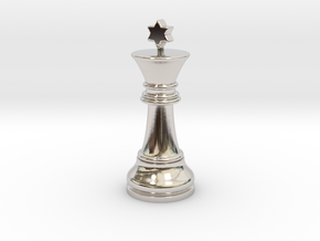 Single Chess King Star Big | Timur Prince Vizir in Rhodium Plated Brass