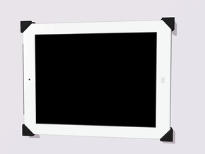 iPad Wall Mount in Black Natural Versatile Plastic