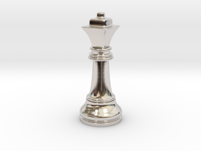 Single Chess Queen Big Square | Timur Ferz in Rhodium Plated Brass