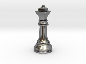Single Chess Queen Big Square | Timur Ferz in Fine Detail Polished Silver