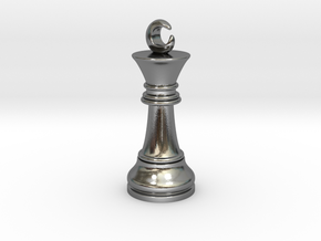 Single Chess King Moon Big / Timur Prince Ferz Viz in Polished Silver