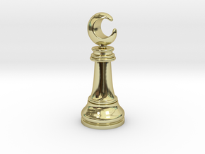 Single Chess Moon Queen / Revealer in 18k Gold Plated Brass