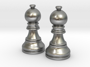 Pair Bishop Chess Big | Timur Picket Taliah in Natural Silver