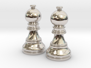 Pair Bishop Chess Big | Timur Picket Taliah in Platinum