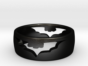 (Size 6) Bat Ring in Matte Black Steel