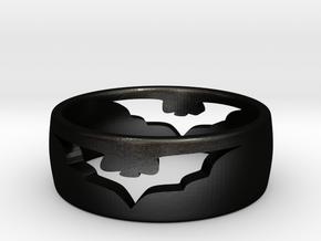(Size 6) Bat Ring in Matte Black Steel