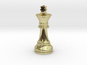 Single King Chess Cross Normal Big | TImur King in 18k Gold