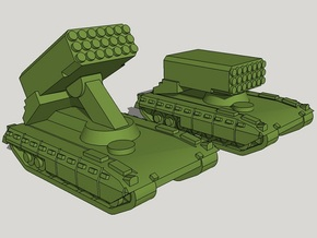 3mm TOS-2 MLRS (12 Pcs) in Smooth Fine Detail Plastic