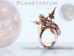 Planetarium Ring - 19.5mm in 14k Rose Gold Plated Brass