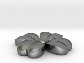 Flower coulomb in Fine Detail Polished Silver