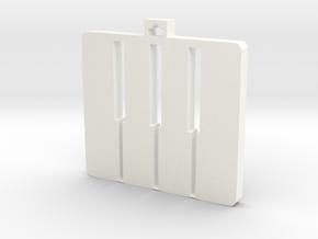 Piano Keys Pendant V2 in White Processed Versatile Plastic