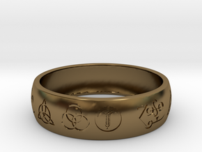 Size 12 FOUR SYMBOLS A  in Polished Bronze