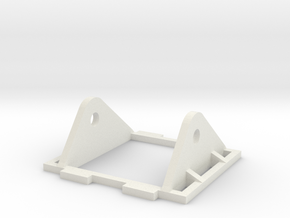 FPV Camera Mount in White Natural Versatile Plastic
