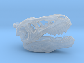 Tyrannosaurus rex pendant 25mm with loop in Smooth Fine Detail Plastic