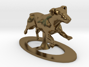Running Jack Russell 1 in Polished Bronze