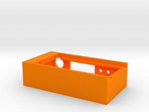 SX350J Box w/Magnet Holes in Orange Processed Versatile Plastic