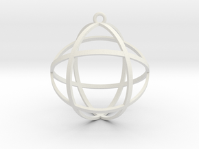 Genesa Crystal in White Natural Versatile Plastic
