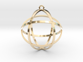 Genesa Crystal in 14k Gold Plated Brass