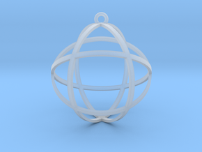 "Genesa Crystal 1.5"" in Smooth Fine Detail Plastic"