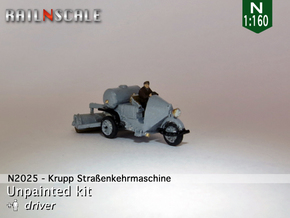 Krupp Straßenkehrmaschine (N 1:160) in Smooth Fine Detail Plastic