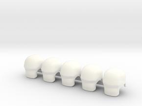 5 x SciFi Gordon T2 in White Processed Versatile Plastic