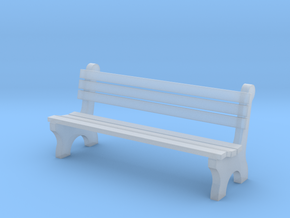 6' Park Bench 1:48 in Smooth Fine Detail Plastic