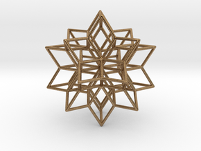 Rhombic star earring in Natural Brass