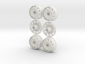 1:16 DIRECTIONAL Rims in White Natural Versatile Plastic