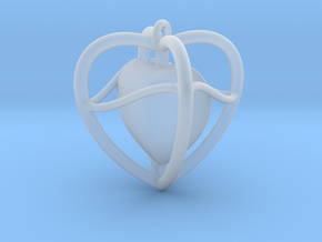 Heart Pendant  in Smoothest Fine Detail Plastic