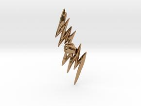 Hand of God - Zeus Thunderbolt Pendant in Polished Brass