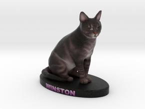 Custom Cat Figurine - Winston in Full Color Sandstone