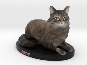 Custom Cat Figurine - Jade in Full Color Sandstone