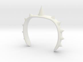 Spike Bracelet in White Strong & Flexible