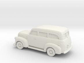 1/87 1947-54 Chevrolet Suburban in White Natural Versatile Plastic