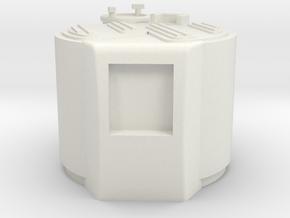 M03-engine Cover in White Natural Versatile Plastic
