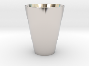 Gold Beer Pong Cup in Platinum