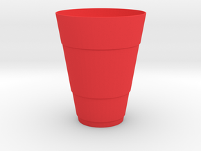 Gold Beer Pong Cup in Red Processed Versatile Plastic