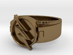 V2 Reverse Flash Ring size 8.5 18.5mm in Polished Bronze
