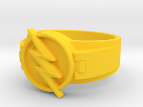 V2 Reverse Flash Ring size 8.5 18.5mm in Yellow Processed Versatile Plastic