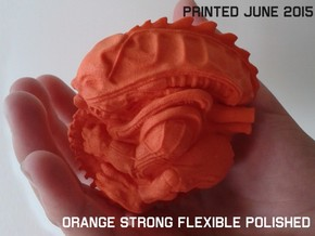 70 MM Alien Fetus in Orange Strong & Flexible Polished